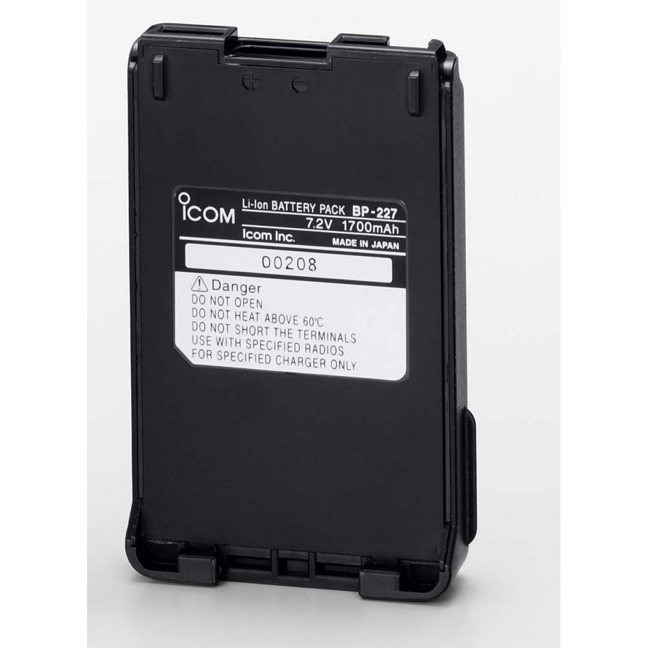 BP-227 Batteries et boitiers piles - ICOM