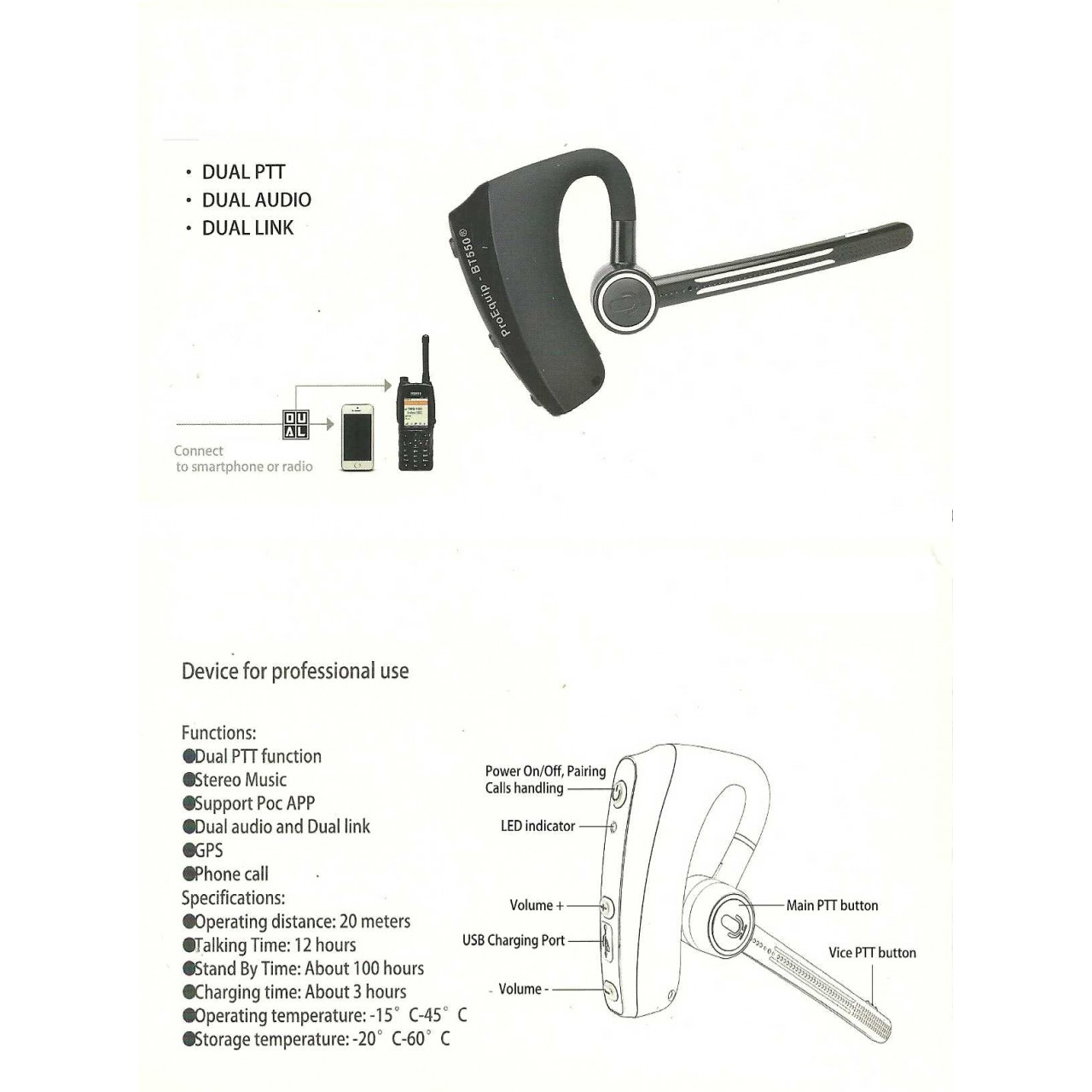 EP-SR30310 Casques et oreillettes - ICOM