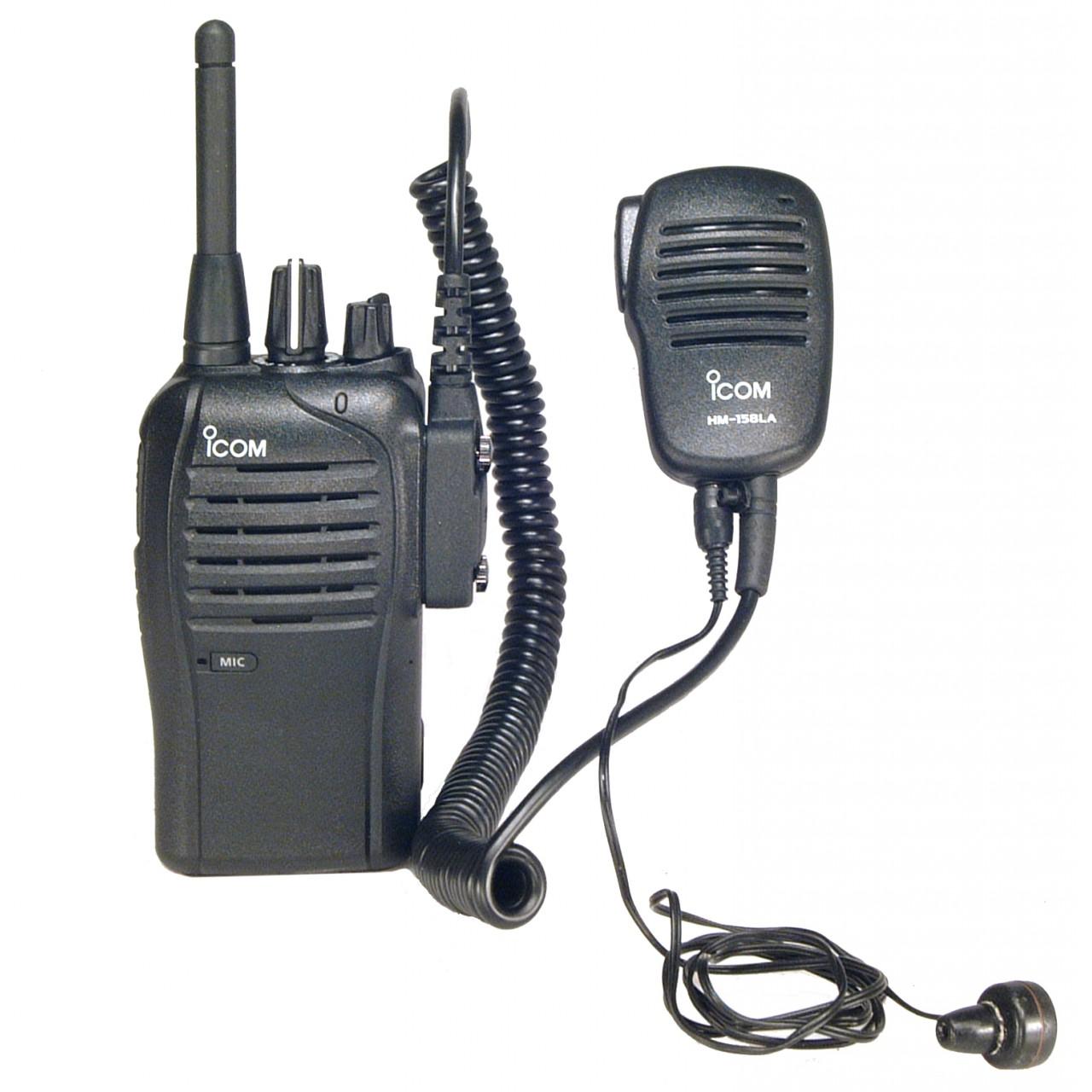 IC-F27SR avec microphone HM-158LA et oreillette SP-13