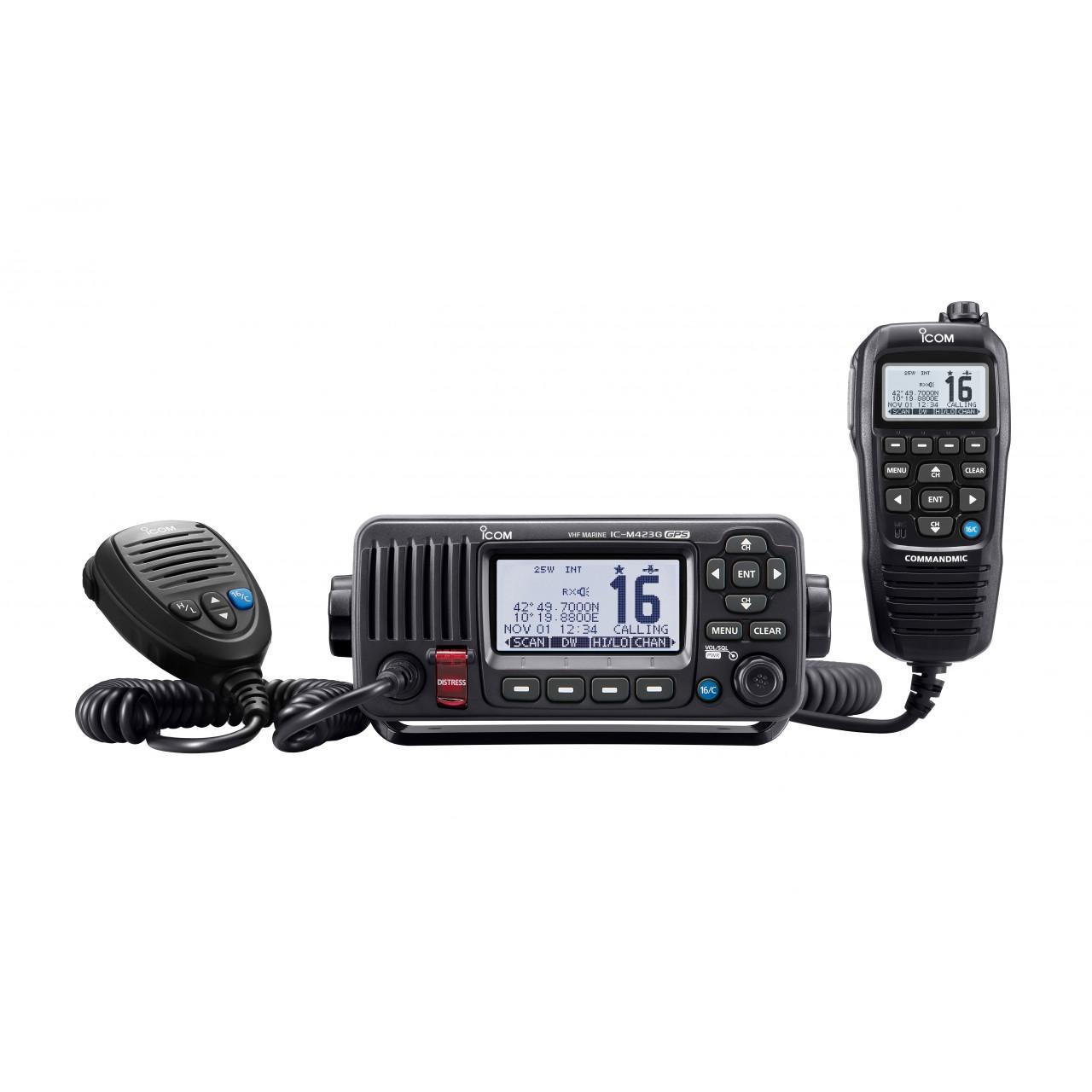 IC-M423GE avec microphone HM-195GW noir