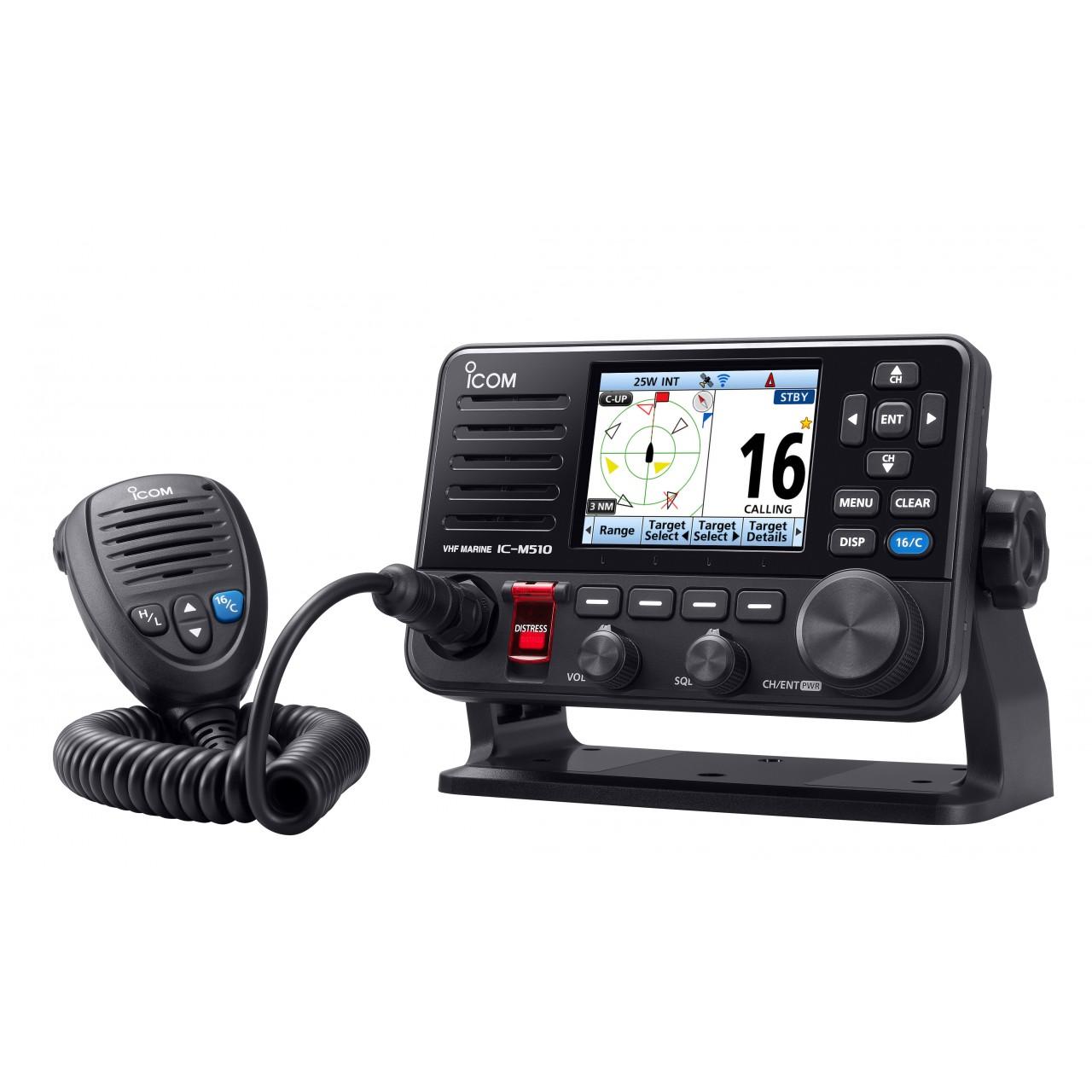 VHF marine IC-M510E vue 3/4