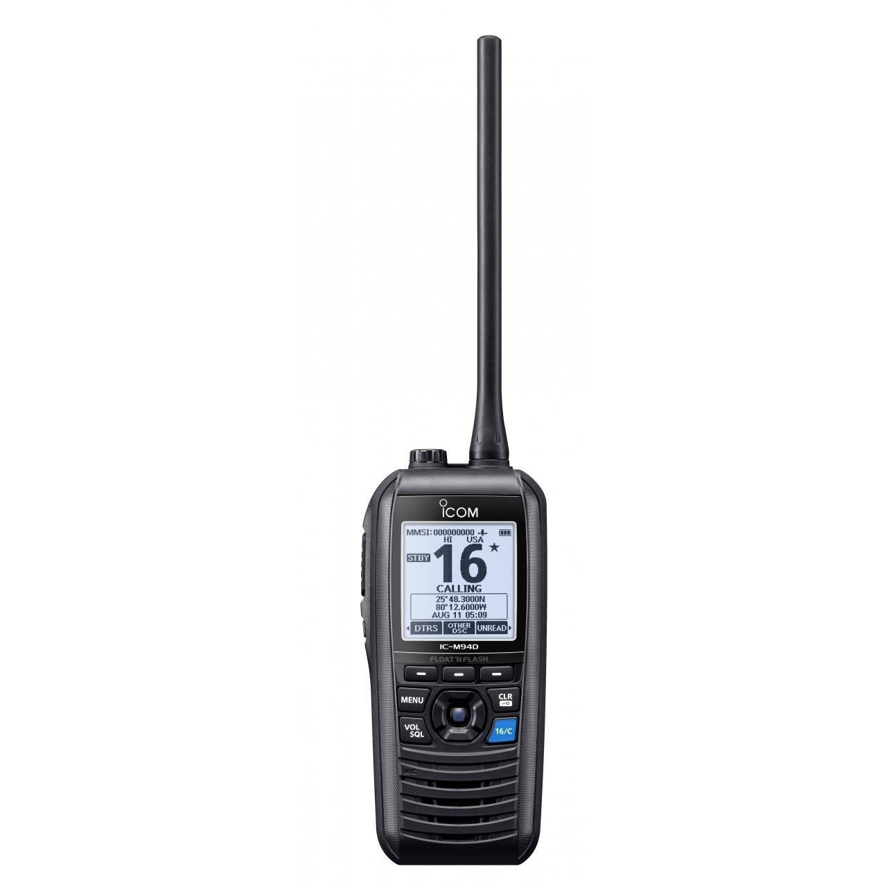 VHF portable marine avec GPS, ASN et AIS IC-M94DE