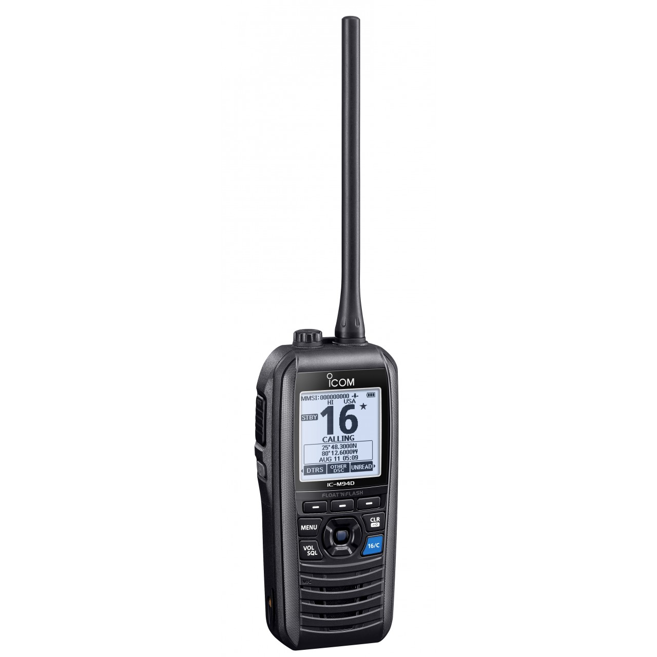 Portatif marine VHF 156-163.275MHz, 6W IC-M94DE