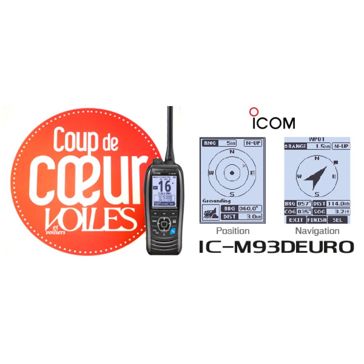 VHF ICOM IC-M93DEURO Coup de coeur Voiles et Voiliers