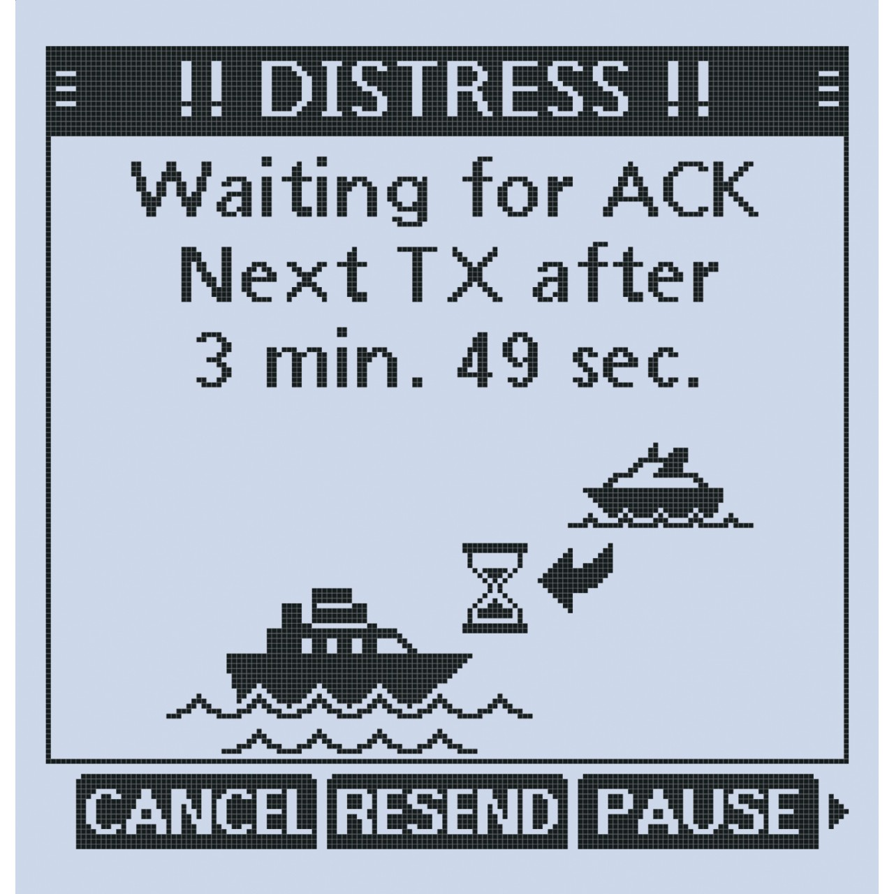 VHF marine IC-M94DE. DISTRESS : Appel de détresse