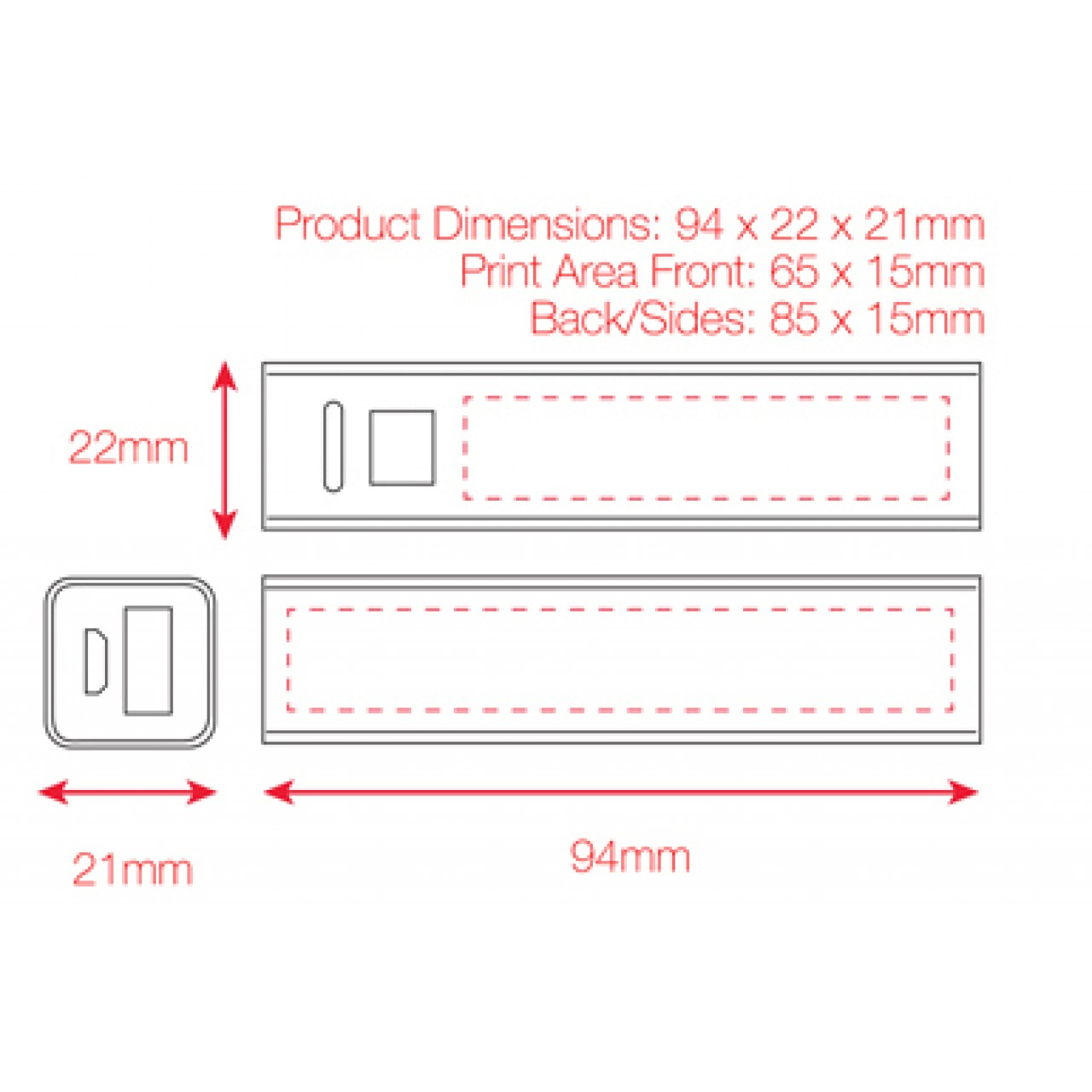 Dimensions PUB-PB2200