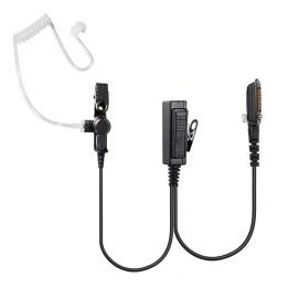EP-RA4238TI : Microphone cravate avec PTT et oreillette tube translucide