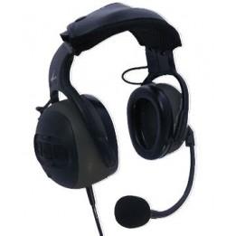Casque antibruit avec microphone flexible et PTT sur la coquille, prise double jack aviation générale HS-GLIA10GA