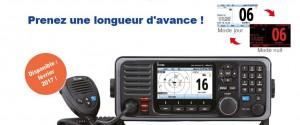 Illustration L'IC-M605EURO est la nouvelle référence des VHF marine fixes haut de gamme du marché !
