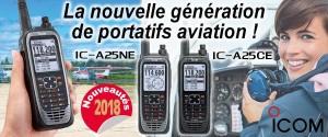 Illustration IC-A25NE et IC-A25CE