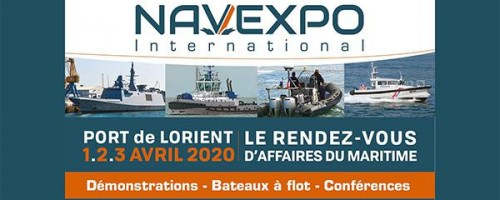 NAVEXPO exhibit in Port Lorient 2020