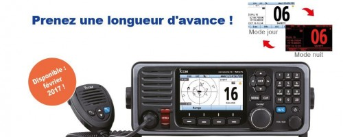 L'IC-M605EURO est la nouvelle référence des VHF marine fixes haut de gamme du marché !