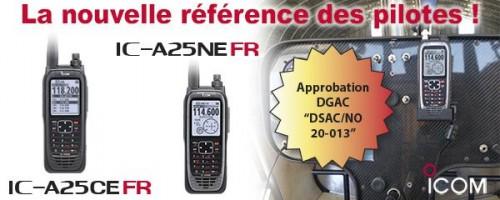 VHF IC-A25FR : La nouvelle référence des pilotes