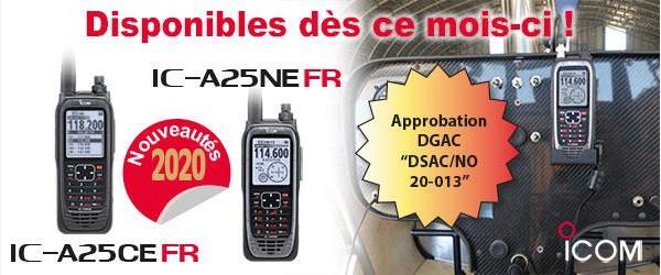 Illustration VHF IC-A25FR : La nouvelle référence des pilotes
