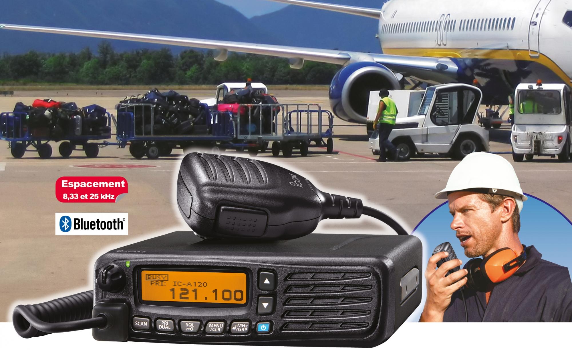 vhf aviation fixe icom usage sol Focus IC-A120E ICOM