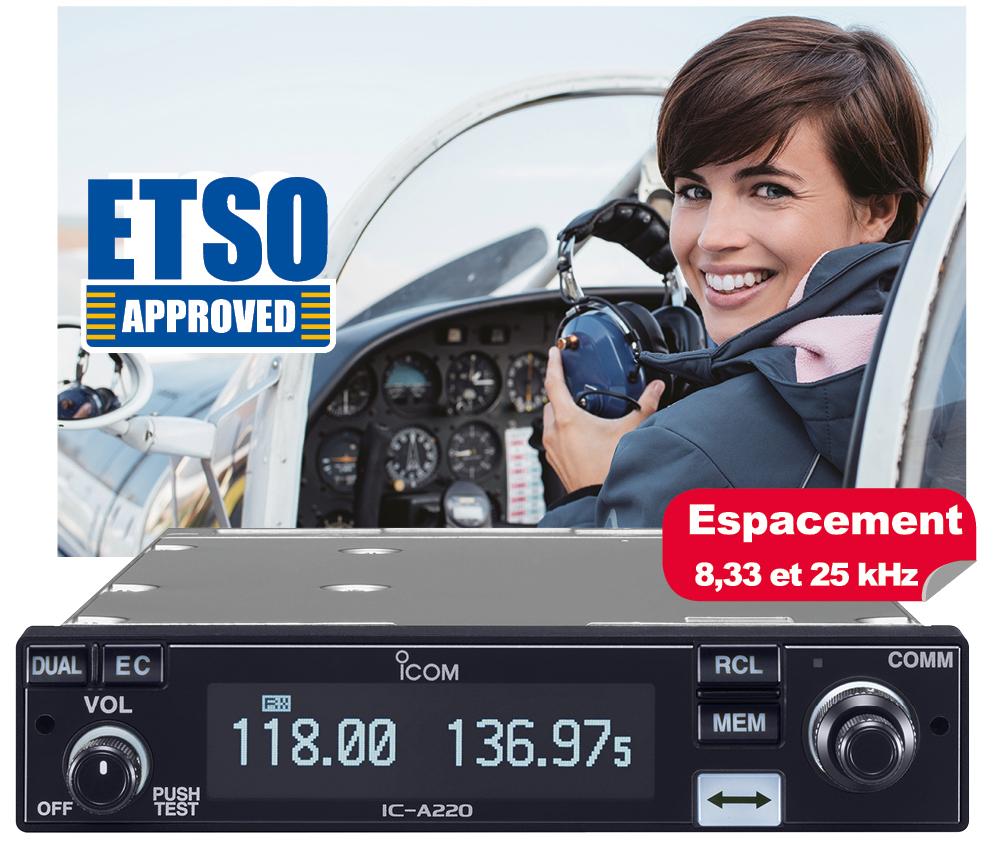 VHF embarquee a220t icom  Focus aviation aéroclubs ICOM