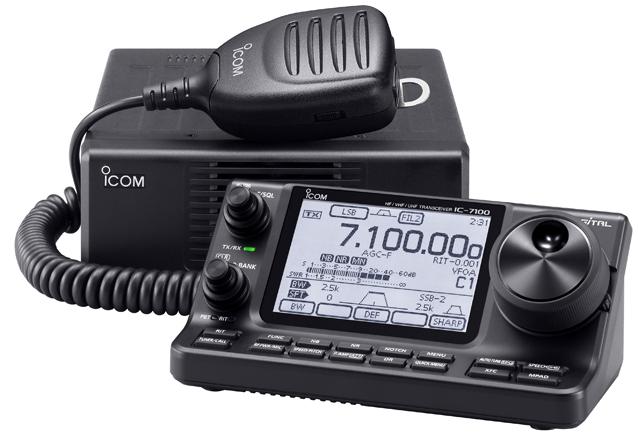 mobile radioamateur ICOM IC-7100E