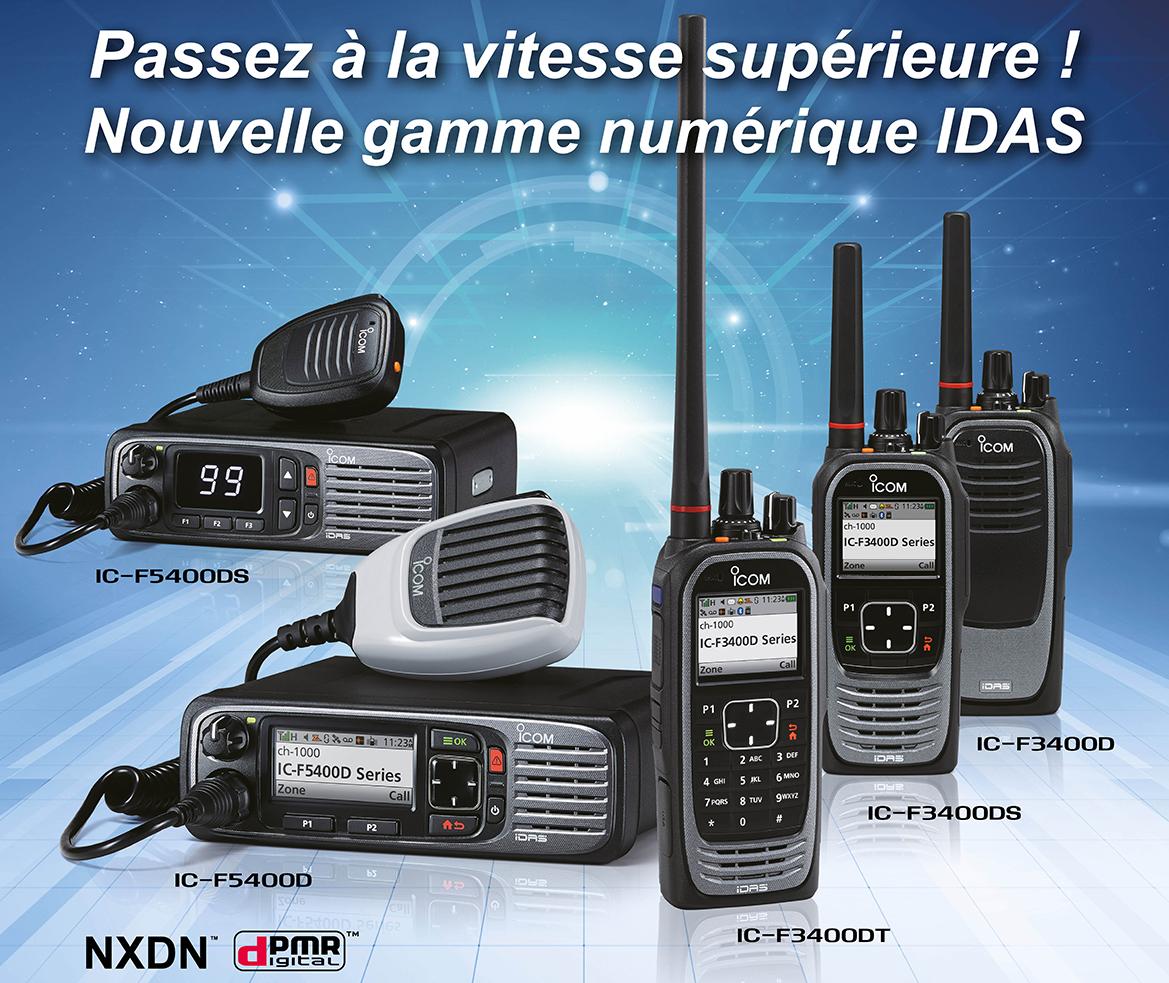 GAMME IDAS PMR IC-3400 IC-5400 Focus PMR ICOM