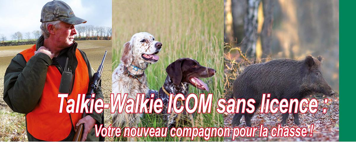 talkie-walkie-chasse Talkies-walkies chasse ICOM